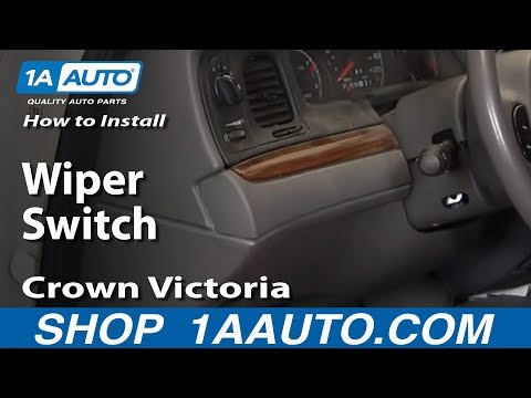 How To Install Replace Wiper Switch Crown Victoria Town Car Marquis Marauder 03-10 1AAuto.com
