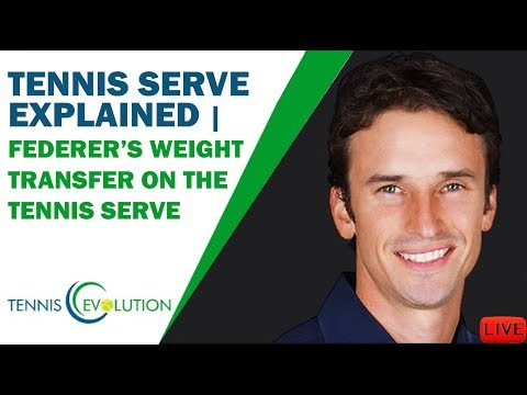 PETE SAMPRAS' *Tennis Serve* Explained | FEDERER'S Weight Transfer On The *Tennis Serve*