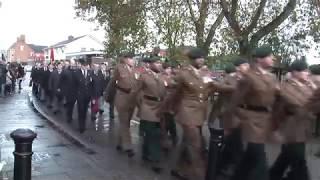 2018 Market Drayton Remembrance Parade
