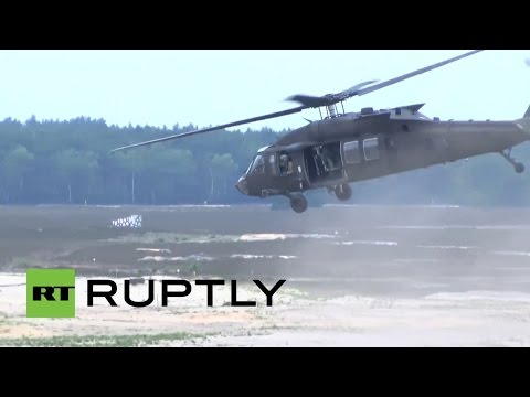 RAW: NATO military exercises tear across Poland