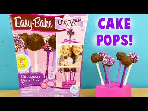 Easy Bake Cake Pops - Baking Tiny Cake Pops for Kids Tutorial