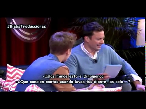 Justin Bieber And Jimmy Fallon  Youtube Presents Parte 23 Espaol HD