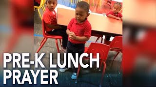 This 3-year-old leading a lunch prayer at school will melt your heart