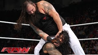 Roman Reigns vs. Bray Wyatt: Raw, Feb. 24, 2014