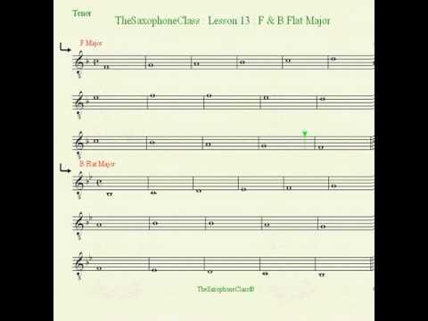 b Flat Major Scale Alto Saxophone f And b Flat Major Scale