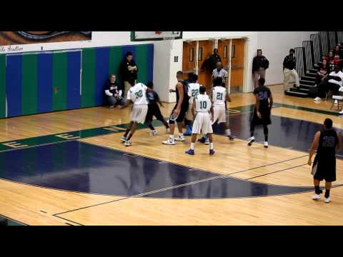 Green Run High School vs Landstown High School Men's basketball, 1/15/13, Part 6.MOV