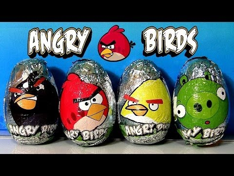 Angry Birds Easter Eggs Surprise Chocolate Egg By Disneycollector Bad Piggies Choco Huevos video