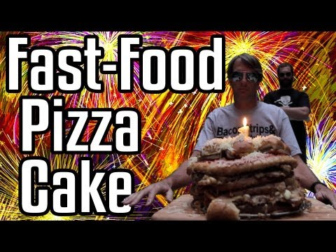 Epic Meal Time Celebrates One Year Of Meaty Insanity With Fast Food Pizza Cake