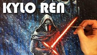 Kylo Ren Star Wars Painting