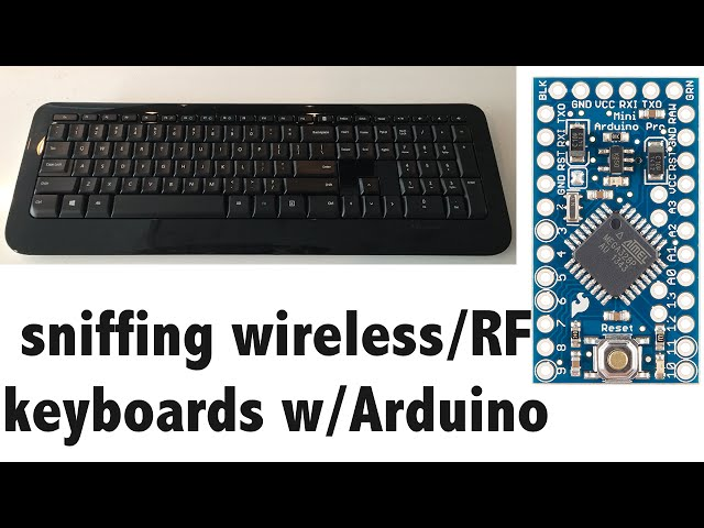 KeySweeper - covert Microsoft wireless keyboard sniffer using Arduino and nRF24L01+