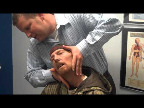Trashman gets Chiropractic Adjustment for radiating neck pain into the armVideo 3