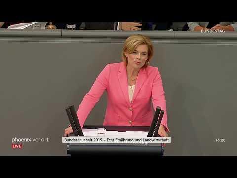 Rede von Julia Klöckner zum Etat für Ernährung und Landwirtschaft am 11.09.18