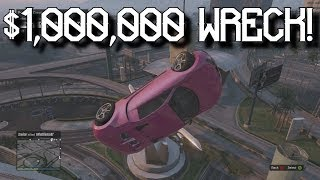 $1,000,000 Bugatti Wreckage! - Grand Theft Auto 5