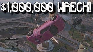 $1,000,000 Bugatti Wreckage! - Grand Theft Auto 5