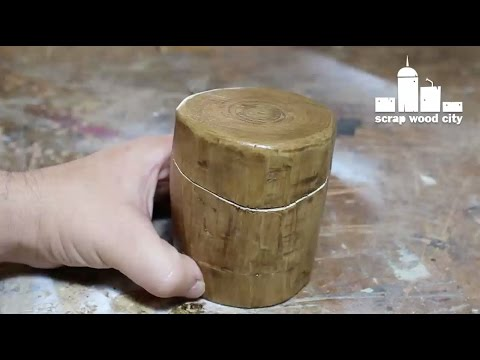 DIY bandsaw style log box without a bandsaw