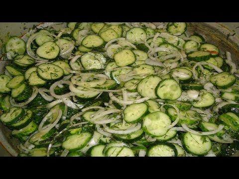 Как консервировать салат из огурцов -Нежинский. | How to preserve cucumber salad -Nezhinsky.