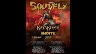 """Soulfly 2019 """"Ritual North American Tour"""" w/ Kataklysm and Incite"""