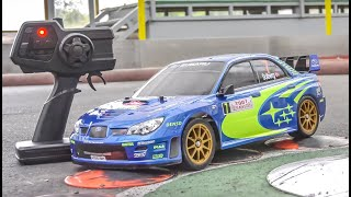Awesome RC Car gets unboxed and driven! Tamiya Subaru Impreza 4x4!