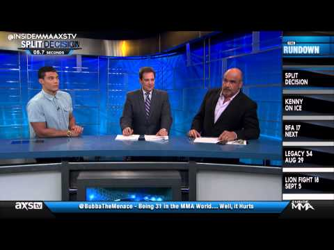 Bas Rutten and Alan Jouban Compare Modeling Photos and Talk Fantasy Football on Inside MMA