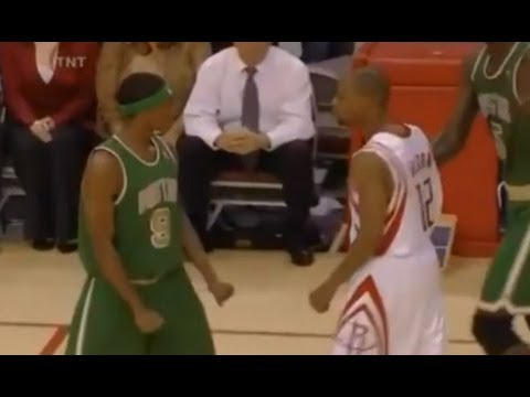Rajon Rondo and Rafer Alston Fight - 2007/2008 - Celtics snap Houston's 22 game winning streak