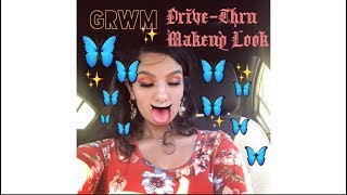 GRWM : On the Go/ Drive-Thru  Makeup Look in 10min