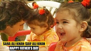 Cute Sara Ali Khan Shares Lovely Moments With Father Saif Ali Khan I FLASHBACK Video