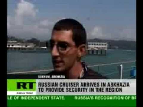 Russian warship eases Abkhazian fears of NATO