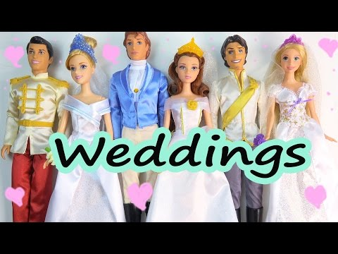Disney Princess Beauty And the Beast Cinderella Fairytale Wedding Gift Set Playset