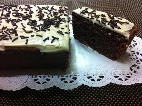 Receta: Torta húmeda de chocolate sin harina / no flour moist chocolate cake