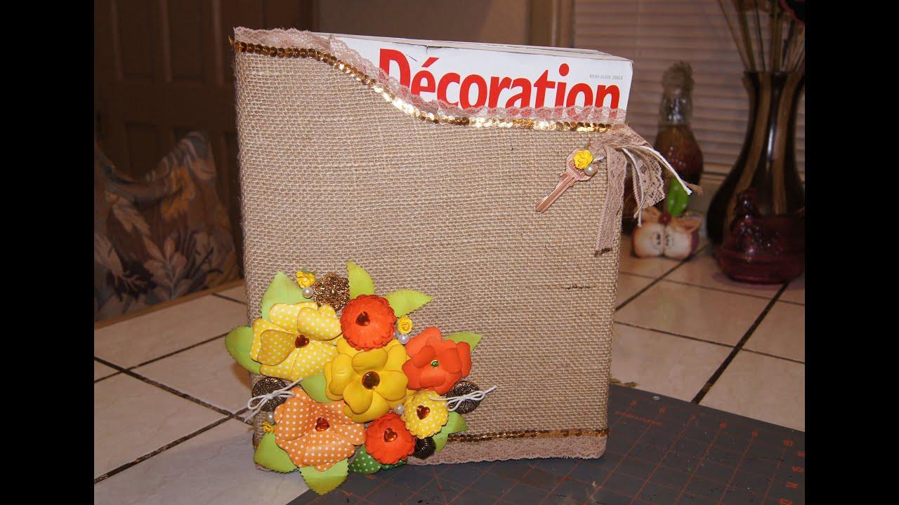 Precioso revistero con caja de cereal reciclada - Cajas para manualidades ...