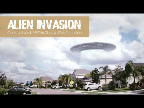 Alien Invasion Part 1: Cinema 4D & Photoshop Tutorial