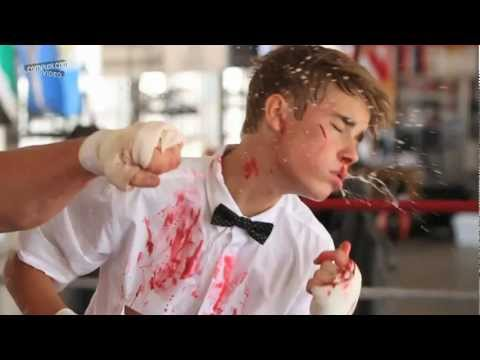 Justin Bieber: Photoshoot in The Boxing Ring [HD]