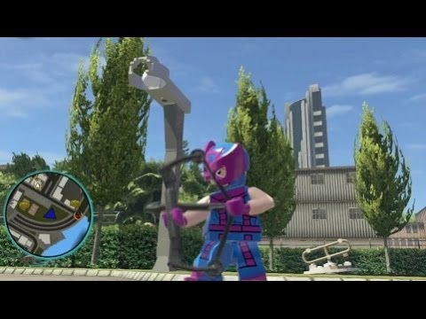 LEGO Marvel Super Heroes - Hawkeye (Classic) Free Roam Gameplay (DLC Super Pack)