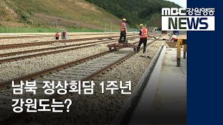 R)남북정상회담 1주년 강원도 사업은?
