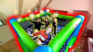 MASSIVE BALL PIT BOUNCE HOUSE IN MY BED ROOM!!