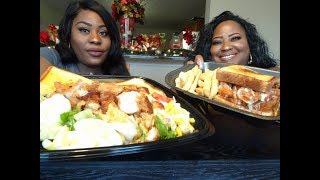 ZAXBY'S MUKBANG! CRUNCHY CHICKEN STRIPS, HOT WINGS, & TEXAS TOAST!
