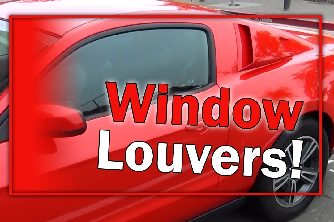 2012 Mustang Window Louvers