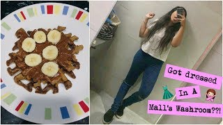 The Time We Made Waffles & Got Ready In A Mall's Washroom! | Arushi Vlogs