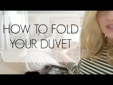 HOW TO FOLD YOUR DUVET | BEDROOM INTERIOR DESIGN
