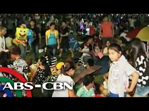 Thousands spend Christmas at Luneta