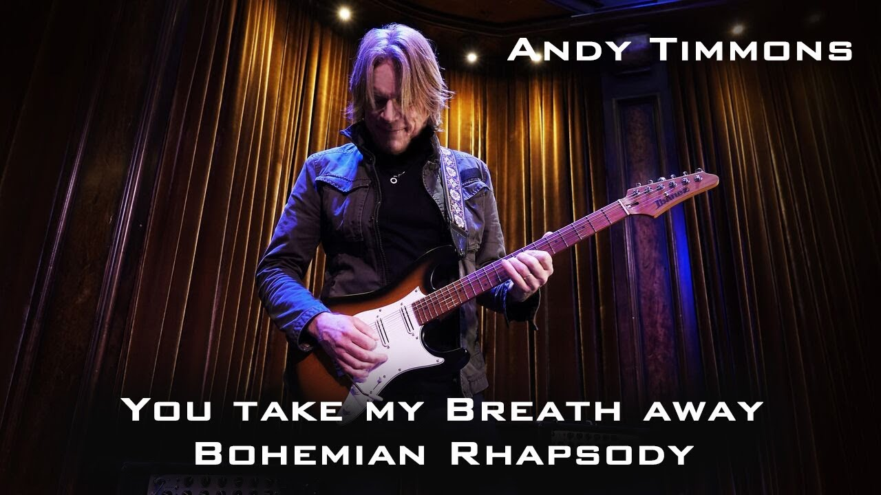 """Andy Timmons - Queenカバー""""You Take My Breath Away/Bohemian Rhapsody""""のソロギター演奏映像を公開 thm Music info Clip"""