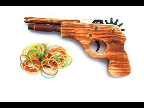 สุดยอด!!! วิธีการทำปืนวงยาง จากไม้ - Rubber Band Gun