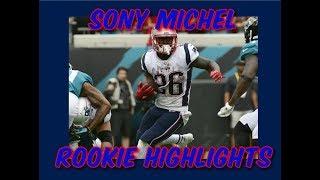 Sony Michel Rookie Highlights | Week 1-8 | 2018