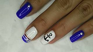 Simple nail art tutorial no.15 #nailartekoto#nailartlover# DIY
