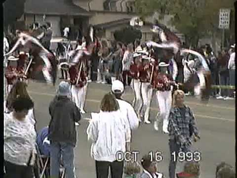 Rubidoux High School Delta Alliance Corps band @ the 1993 Buckboard Parade