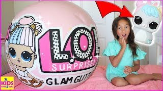 BIGGEST LOL SURPRISE GLAM GLITTER BALL! NEW L.O.L. Surprise Biggie Pets Unboxing Kids Toys and Joys