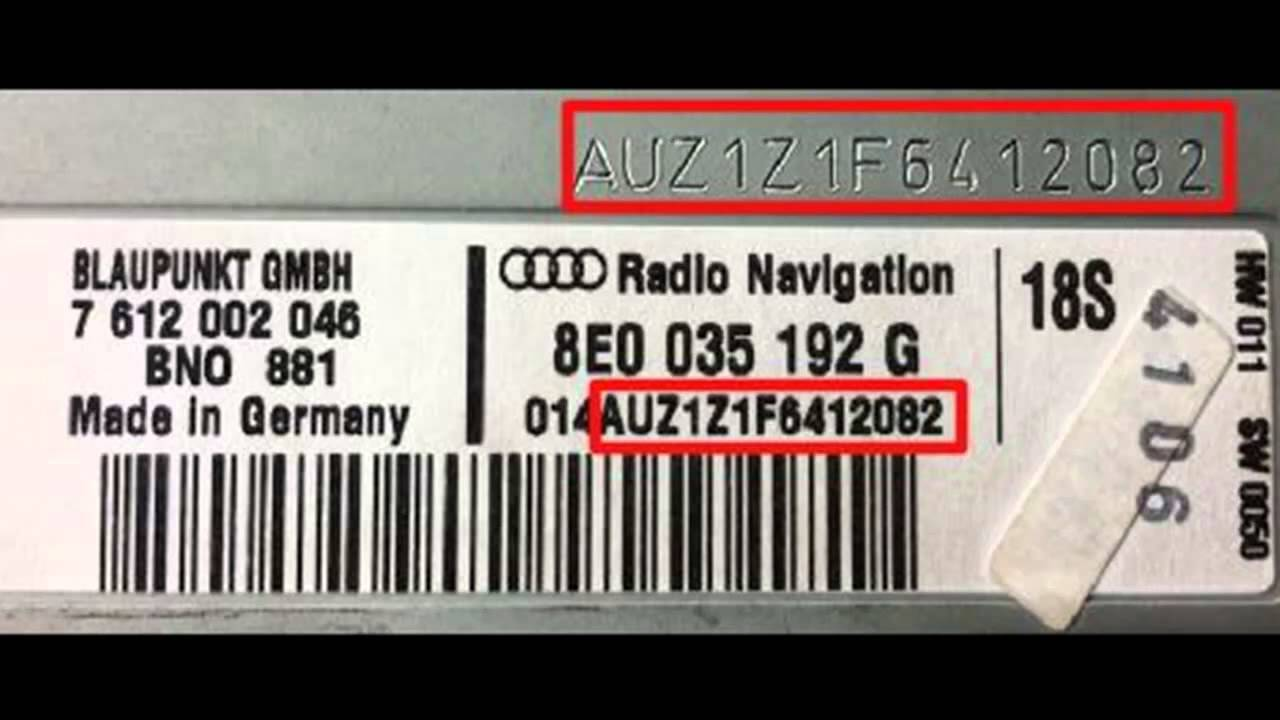 Vw Skoda Audi Radio Code How To Find Your Vw Radio Pin