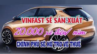VINFAST sẽ sản xuất 20.000 xe điện/năm, Chính phủ hỗ trợ thuế | Thị trường ô tô xe máy