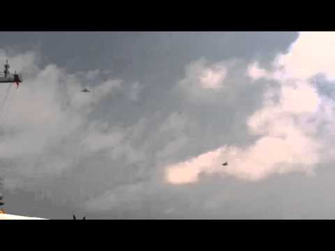 X-47b And F-18 Fly Overhead 8 17 14 video