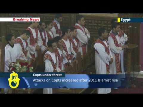 Egyptian Christians under attack: Coptic Christians hold Sunday services and brace for more violence